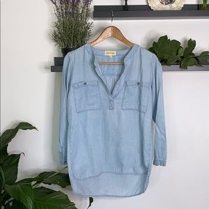 Anthropologie • cloth & stone jeans chambray tunic